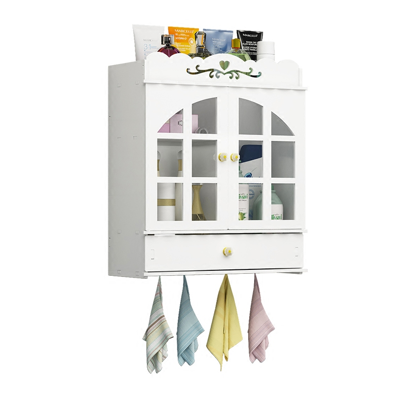 A1 Porous bathroom vanity wall-mounted desktop storage rack bathroom cabinet shelf wall-mounted LO515321 Полка