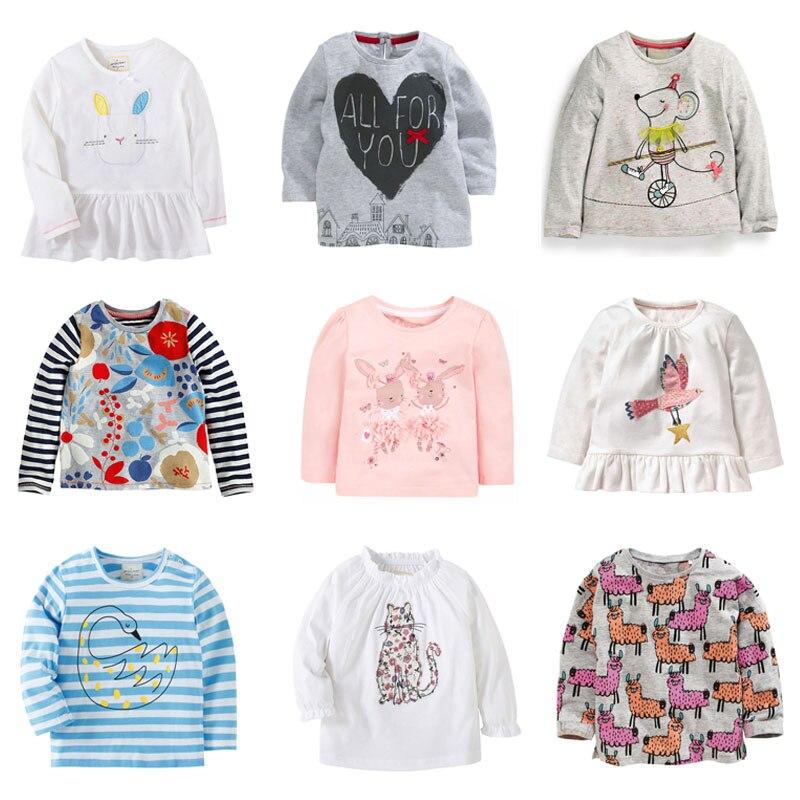 94e4602c3 2019 nuevo bebé niñas camiseta de calidad de marca de bebé 100% algodón ropa  de niña niños camiseta Camiseta de manga larga niños ropa camiseta blusa en  ...