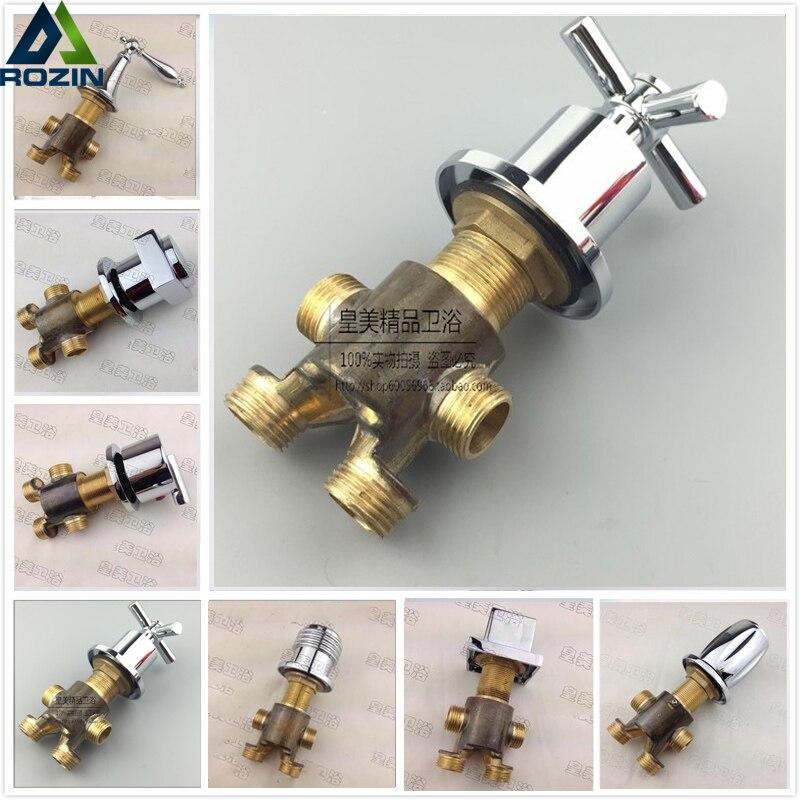 Free Shipping Brass Switch Handles for Bathtub Bathroom Tub Filler Mixer Valve Deck Mount Chrome Finish