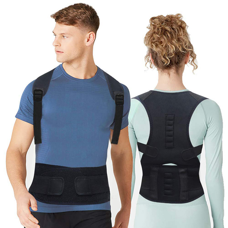 TEAEGG Adjust magnetic therapy Posture Corrector Brace Back Support Belt Shoulder