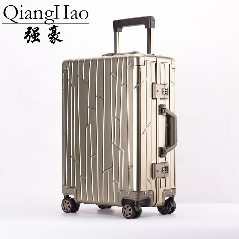 100 All Aluminum Luggage Hardside Rolling Trolley Luggage travel Suitcase 20 Carry on Luggage 24 Checked