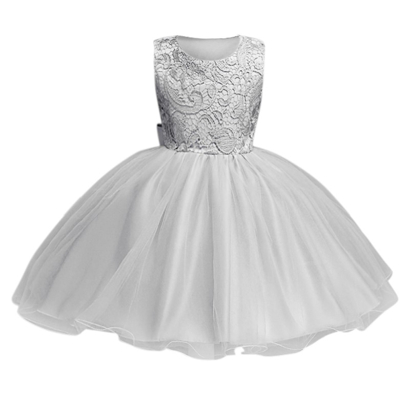 2018 Baby Girls High Quality Tulle Lace Flower Backless Preness Dress with Bow Tie Party Wedding dress 3~10Y G92018 Baby Girls High Quality Tulle Lace Flower Backless Preness Dress with Bow Tie Party Wedding dress 3~10Y G9