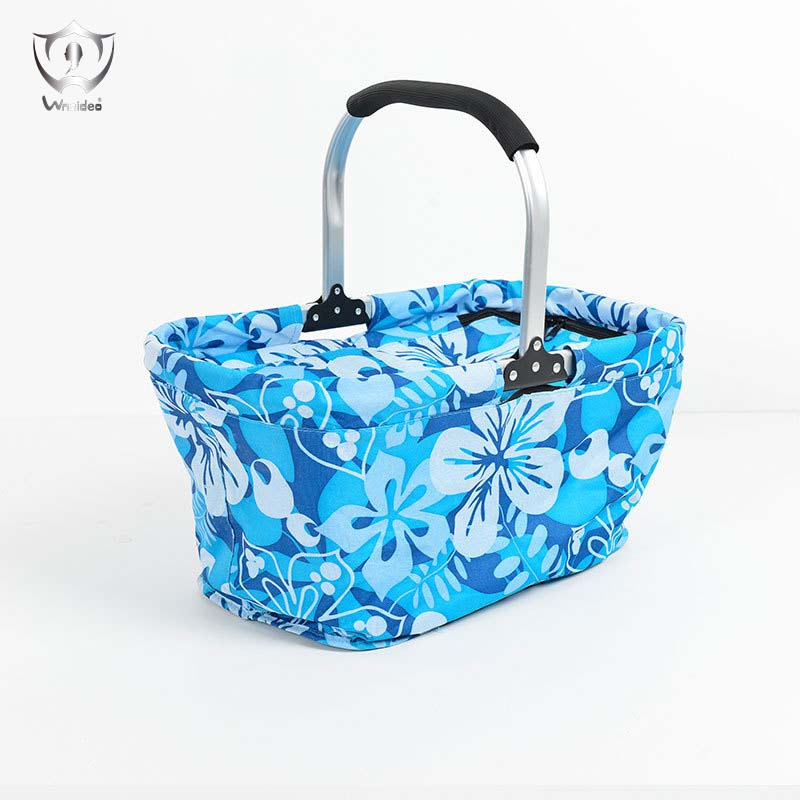 Insulated Picnic Basket Collapsible Cooler Bag Insulated Up To 4 Hours for Camping Outdoor Concert Sports Event Beach Market ZS