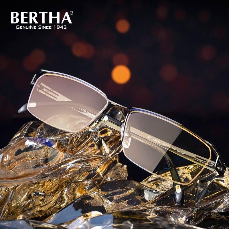 BERTHA Titanium Glasses Frames Men Eyeglasses Optical Prescription Reading Clear Eye Lens male Spectacle 5003