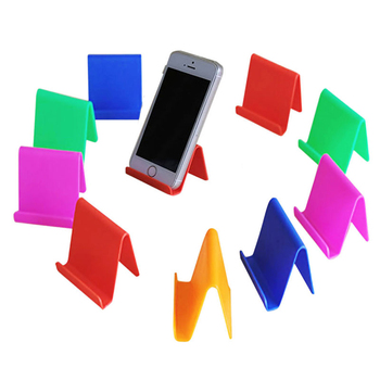 portable plastic tabletop universal cell phone holder and stand for smartphones and tablet