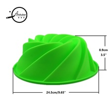 Big Swirl Shape Silicone Butter Cake Mould