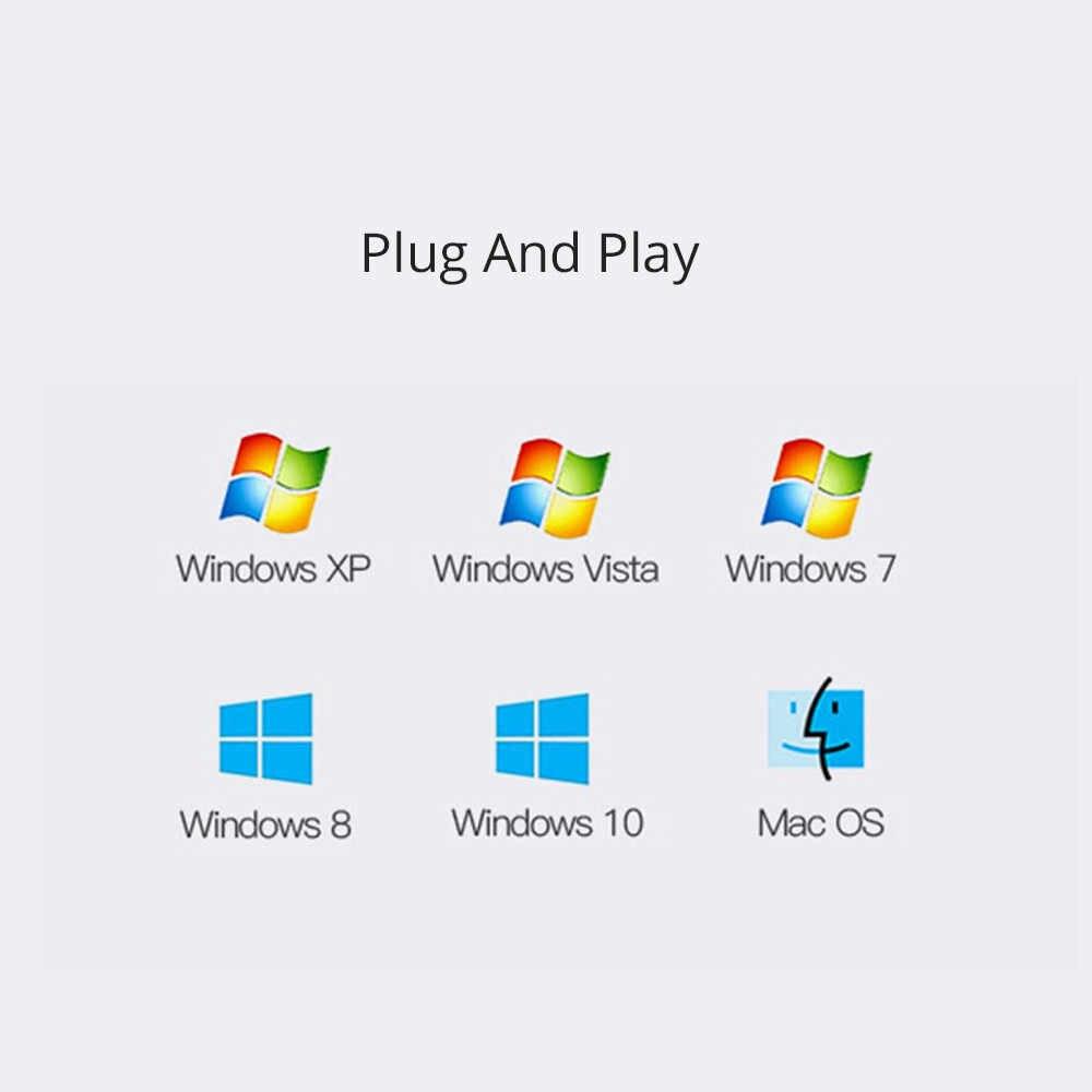 الخارجية USB كارت الصوت 7.1 مع 3.5 مللي متر الصوت LCD مهايئ لشاشة المسجل Micphone كارت الصوت سماعة المتحدثون للكمبيوتر/كمبيوتر محمول