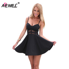 SEBOWEL Cute 2017 Women A Line Summer Dress Lace Insert Sexy Spaghetti Strap Casual Dress Sundress vestido de verano lace insert sleeveless a line dress