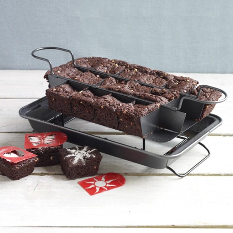 PERFECT-BROWNIE-PAN-SET-Kitchen-Baking-Cake-Mould-Bakeware-Cake-Making-Set-Tools