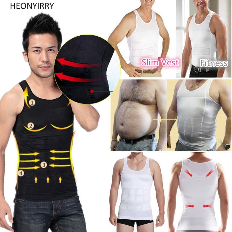 Männer Shapers Sleeveless Feste Bauch Bauch Buster Weste Control Slimmerbelt Hot Former Unterwäsche Hemd Sauna Weste Facelift Werkzeug