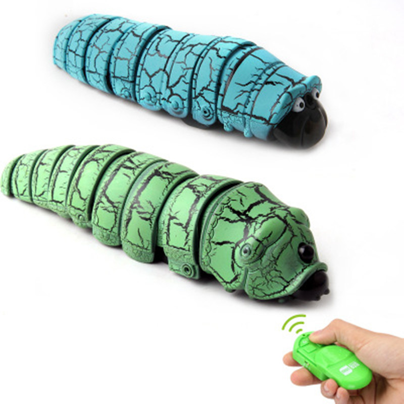 Cute Novelty Electric Toys Infrared-controlled Crawling Insect Caterpillar Prop 12cm Remote Control Electronica Pets Toy