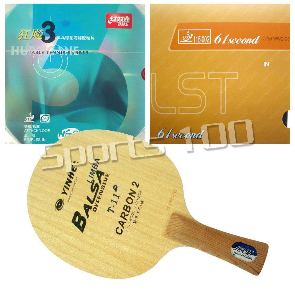 Pro Combo Racket Galaxy T-11+ Blade Long Shakehand-FL With 61second Lightning DS LST and DHS NEO Hurricane 3 Rubbers pro table tennis pingpong combo racket palio energy 03 with dhs tinarc 3 and 61second ds lst long shakehand fl