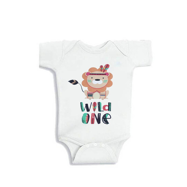 YSCULBUTOL Infant First Birthday Baby Bodysuits Lion Clothing Wild OneLion Shirt 0 12M