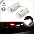 2pcs Xenon White CRE'E XP-E T10 168 194 2825 W5W LED Replacement Bulbs For Car License Plate Lights,Parking Lights