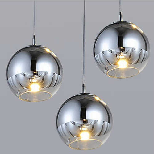 hanging kitchen light cabinets houston modern plated ball glass lampshade led pendant lights ...