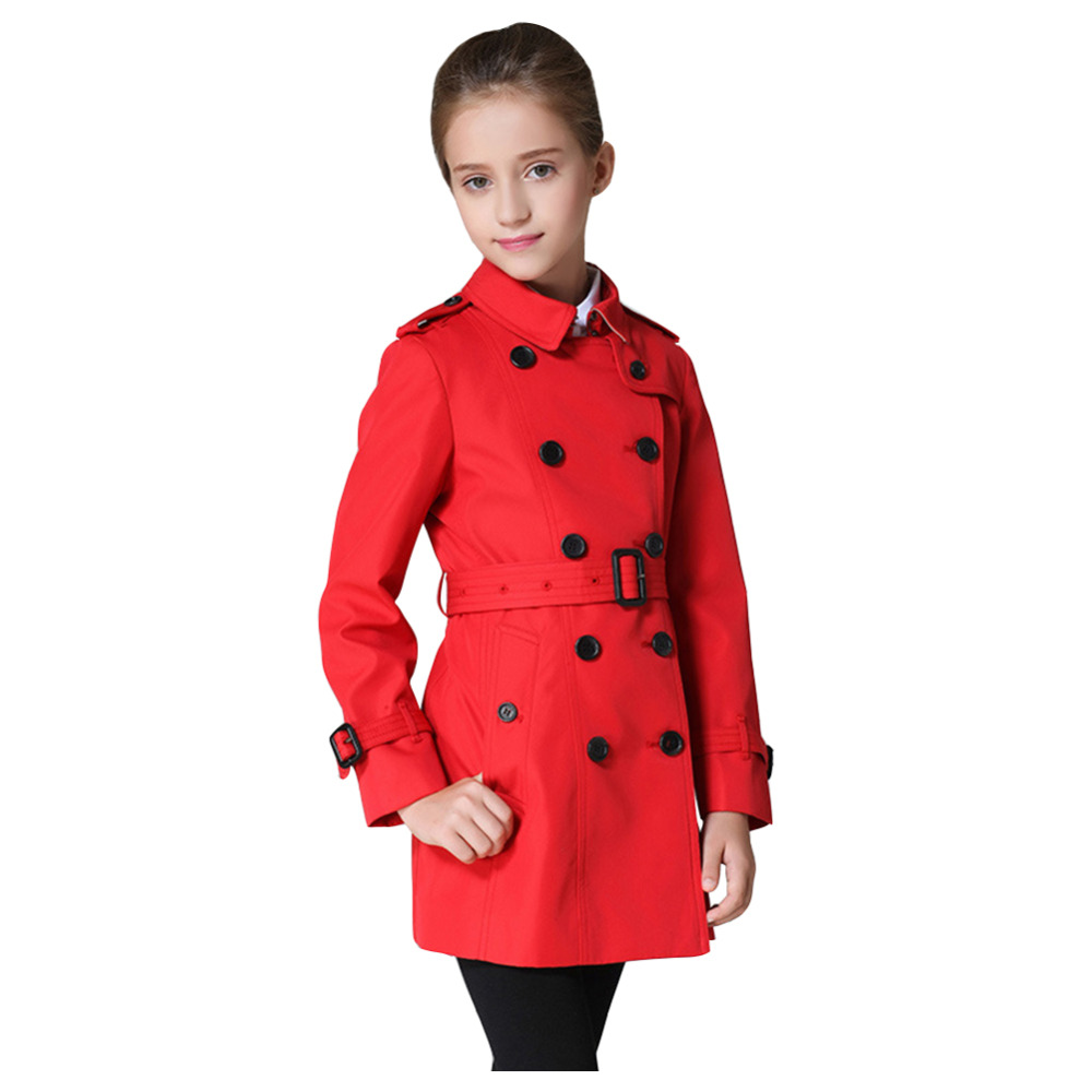 Spring Autumn Girls Trench Coats Fashion Kids Windbreaker Girl Jacket Teenager 4-12 Years Outerwear Children ParkaSpring Autumn Girls Trench Coats Fashion Kids Windbreaker Girl Jacket Teenager 4-12 Years Outerwear Children Parka