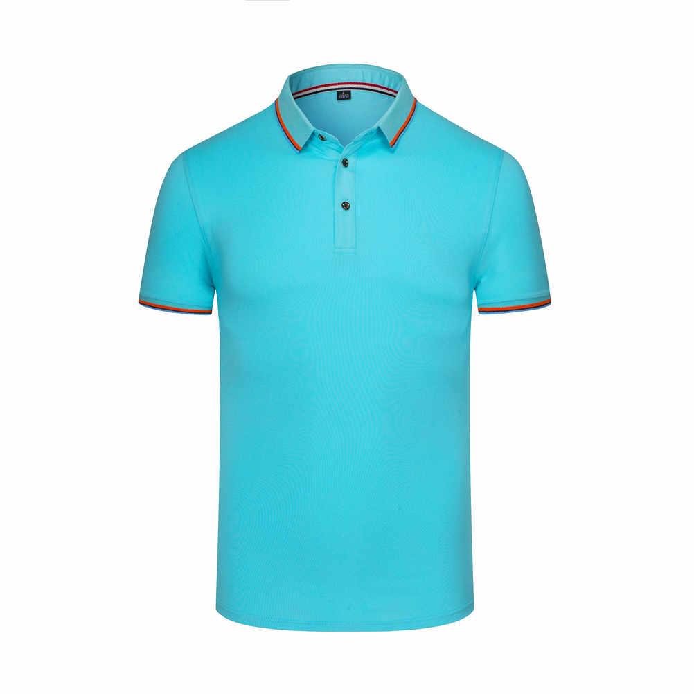 f402372380b1 ... New Men s And Women s T-Shirt Turn-down Collar Short Sleeve Casual  Classic ...