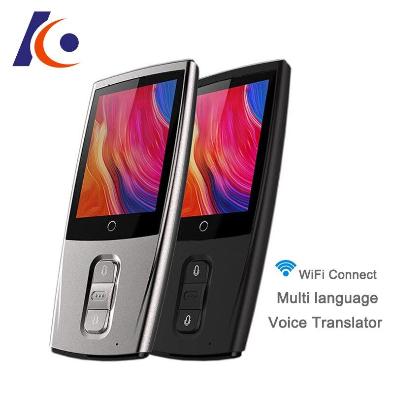 Línguas Tradutor De Voz Instantâneo Portátil Pocket Mini Tempo Real Multi Language Offline Máquina Tradutor Intérprete de Viagem