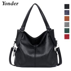 Image 2 - Yonder brand fashion women bags shoulder bag female genuine leather handbags ladies hand bags high quality large tote sac a main
