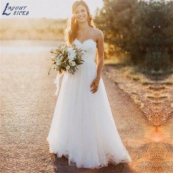 ZL1025 New 2019 Elegant Sweetheart Lace Tulle A Line Wedding Dresses Bridal Gowns Celebrity vestido De Noiva robe de mariee