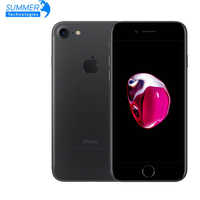 Apple iphone 7 huellas 12MP Original teléfono móvil Quad Core 2GB RAM 32/128 GB/256GB IOS touch ID LTE 12.0MP iphone 7 Apple