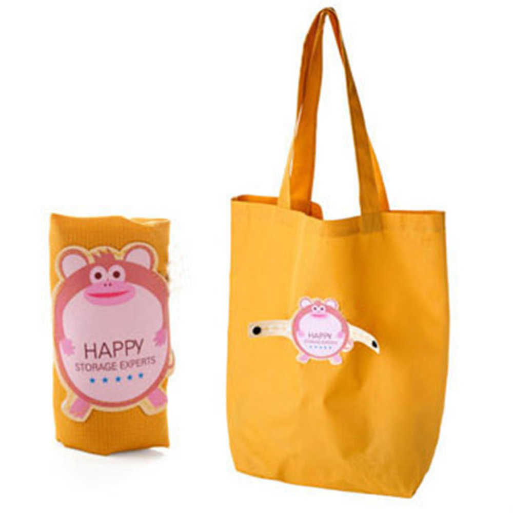 Foldable Eco Reusable Shopping Bags Reusable Tote Pouch Recycle Storage Handbags Waterproof Cartoon Grocery Shopping Travel Bag