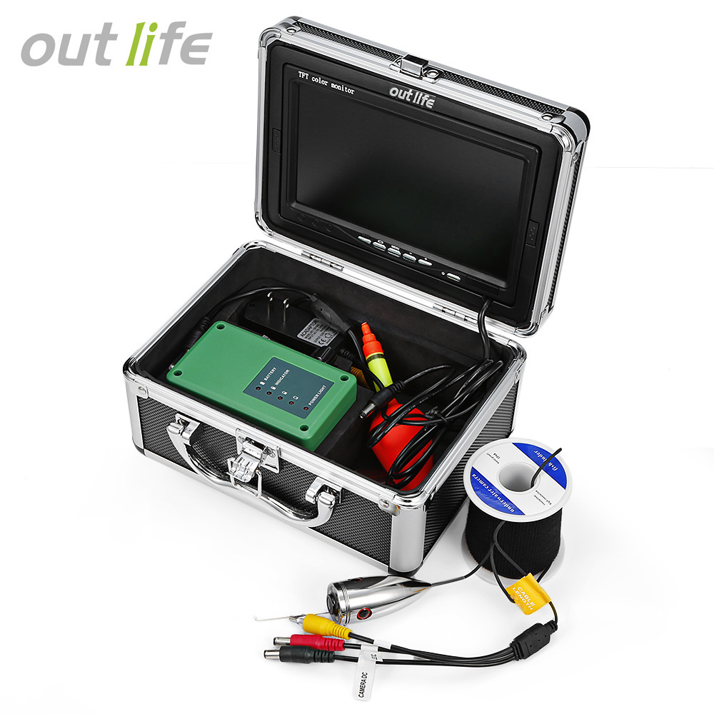 Outlife HD 1000 TV Fish Finder Underwater Fishing 7 Video Camera Monitor Fish Finder Waterproof 12pcs