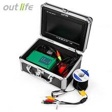 Outlife HD 1000 ТВ рыболокаторы подводный Рыбалка 7 »видео камера мониторы рыболокаторы водостойкий 12 шт. инфракрасный ИК светодиодов