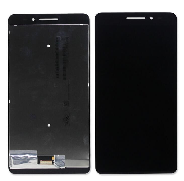 BLACK For Lenovo PHAB Plus PB1-770 Touch Screen Digitizer Glass+LCD Display Assembly Replacement Parts+Tools 100% original for lenovo p780 lcd display touch screen digitizer assembly replacement warranty tempered glass adhesive tools