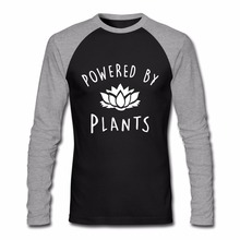 "Great ""Powered by Plants"" longsleeve shirt"