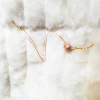Natural Baroque Pearl Pendant necklace I personally hand made customizable pearl chain