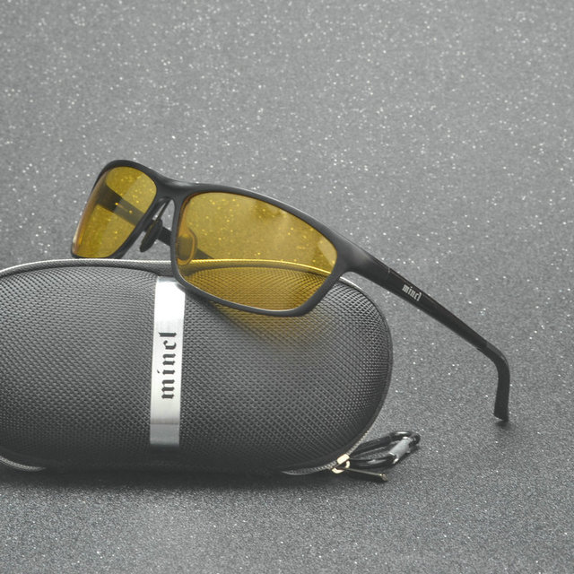 cb955236903ed Venda quente dos homens motoristas de carro de alumínio-magnésio óculos de  visão noturna polarizador