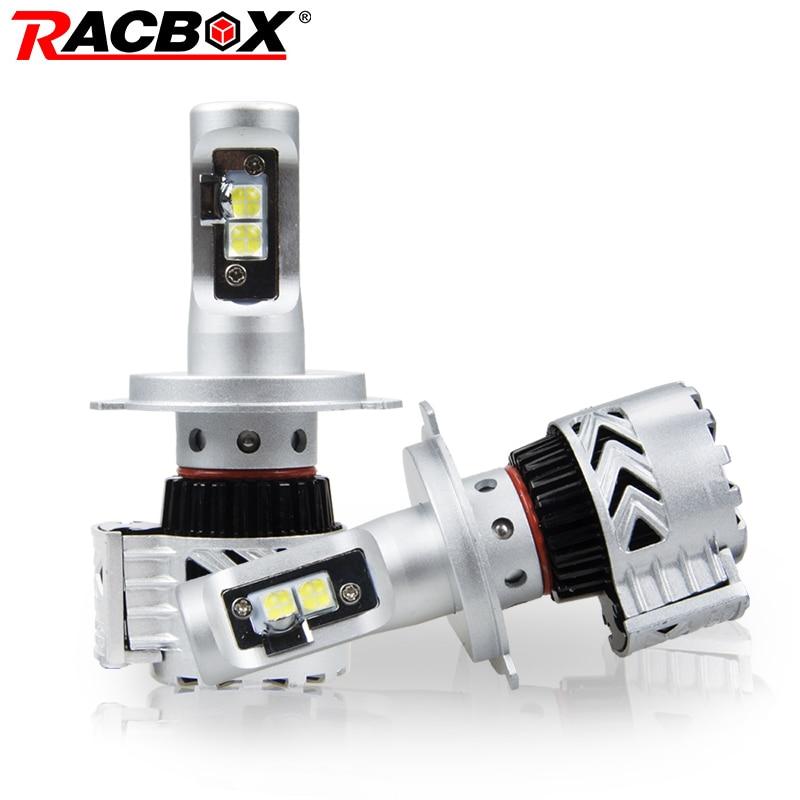 Racbox Fanless Car Led Headlight Bulbs H4 Hi Lo H1 H7 H8 H9 H11 9005 9006 Hb3 Hb4 White 6000k For Kia Opel Peugeot Led Auto Lamp Orders Are Welcome. Car Headlight Bulbs(led)