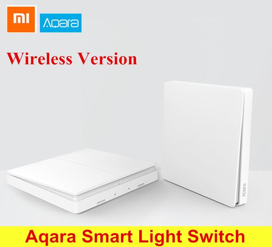 Xiaomi Aqara Smart Light Switch Wireless Version Singel Button / Double Button ZiGBee Wifi Wireless Control men double button plain blouse