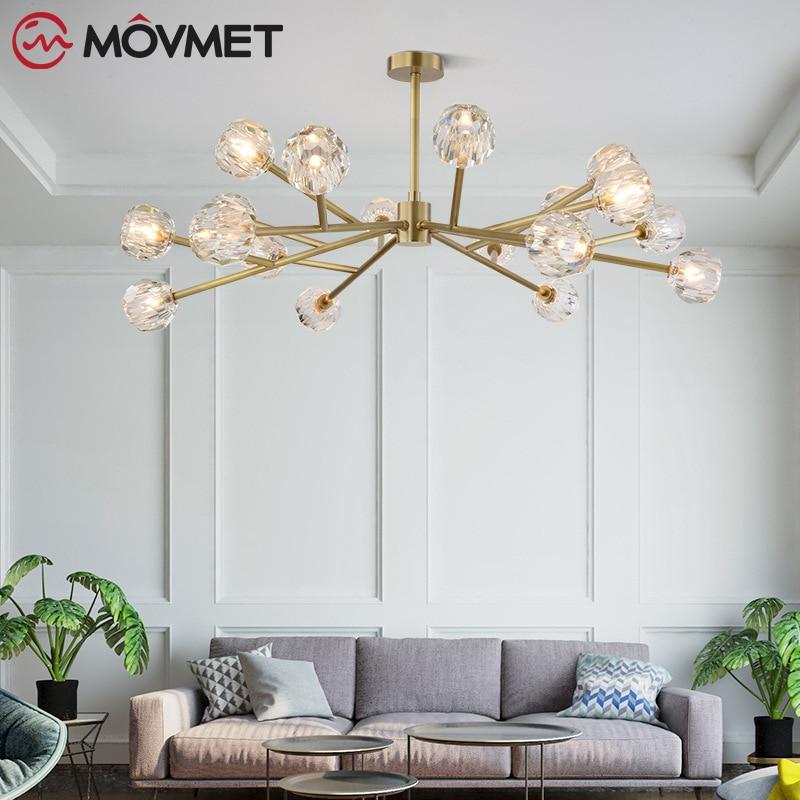 Crystal Led Lamp Modern Design Chandelier Ceiling Living Room Bedroom Dining Room Light Fixtures Decor Home Lighting G4 Bulb in Chandeliers from Lights Lighting