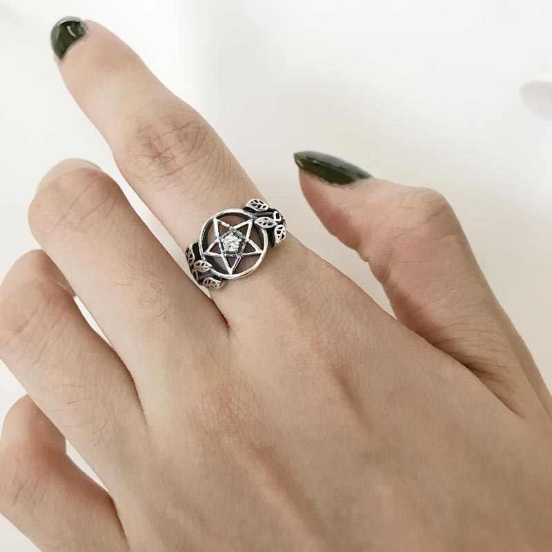 แท้ 100% 925 เงินสเตอร์ลิงพราว Shining Star แหวนแฟชั่นผู้หญิงเครื่องประดับ S925 ของขวัญ