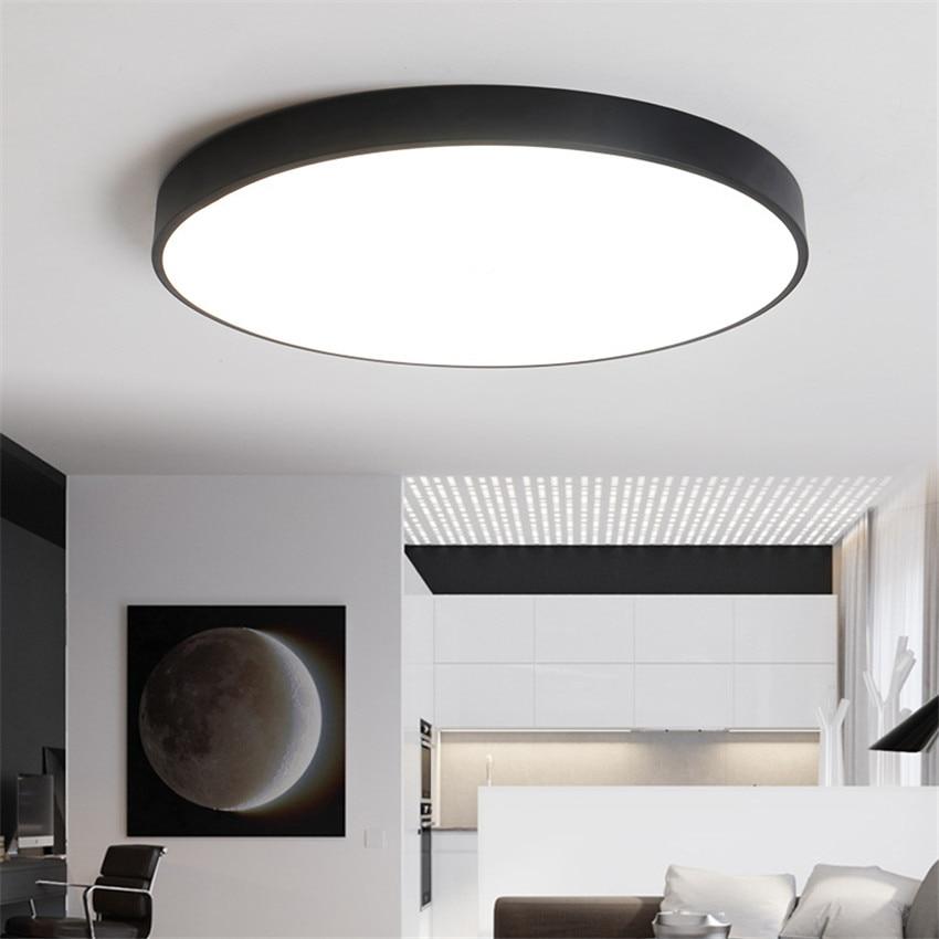 RC Dimmbar Ultradünne 5 Cm Led Deckenleuchte Wohnzimmer Lampe Moderne  Einfache Schlafzimmer Lampe Esszimmer Deckenleuchten Plafondlamp In RC  Dimmbar ...