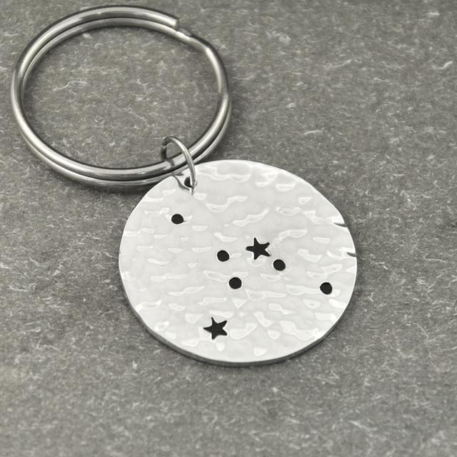 Cancer Constellation KeychainCancer Sign Birthday Gift Horoscope Keychain Astrology JewelryZodiac