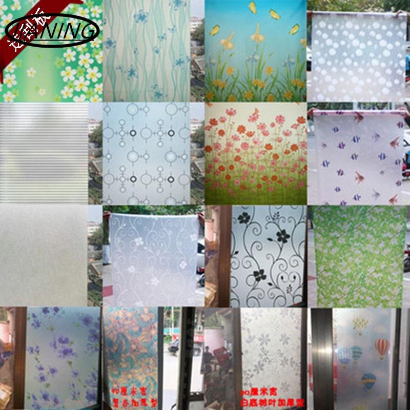 80cm רחב * 300cm חלון נייר זכוכית מדבקות לשפשף מדבקות אסלה אור אטום אמבטיה צלופן הצללה חלונות raamfolie