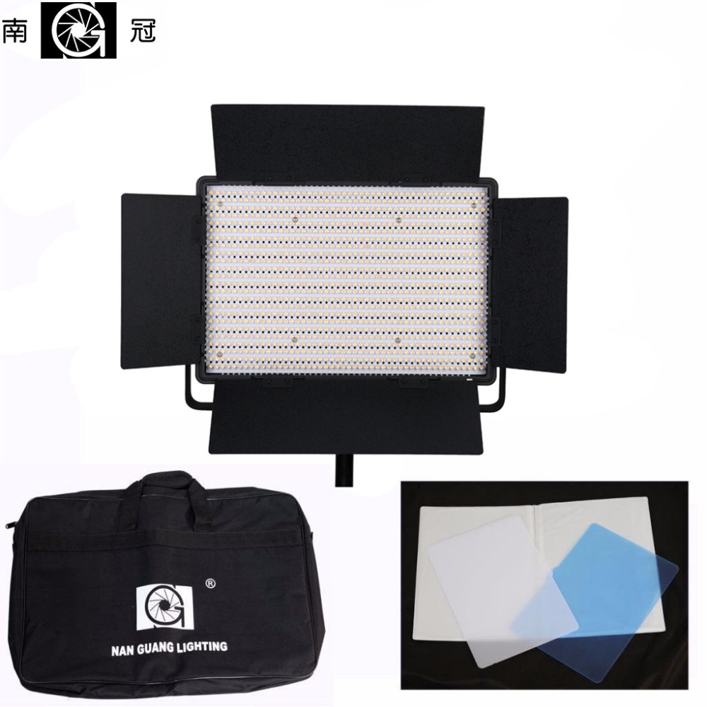 Nanguang Pro CN-1200CSA 3200~5600K Dual Dimmer High Quality LED Video Studio Photo Light With Bags nanguang cn r640 cn r640 photography video studio 640 led continuous ring light 5600k day lighting led video light with tripod