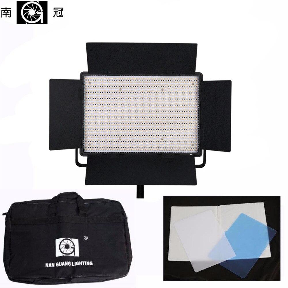 все цены на Nanguang Pro CN-1200CSA 3200~5600K Dual Dimmer High Quality LED Video Studio Photo Light With Bags онлайн