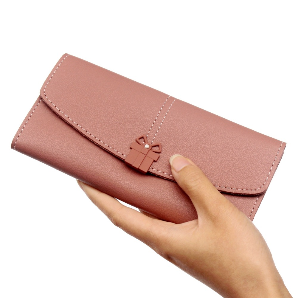 New fashion Wallets Womens PU Leather Wallets and purses Women's Clutch Bag lady Hasp Wallet Zipper Long coin Purses Card Holder