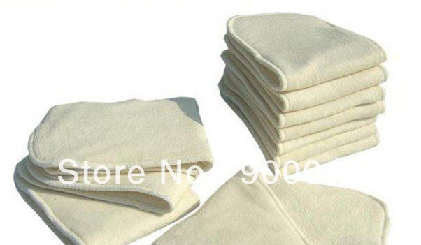 Free Shipping Natural Fiber Bamboo Terry 100pcs 4 Layers Pure Washable Baby Cloth Diaper High Quality