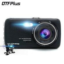 OTFPLUS Car DVR 1296P 4.0 IPS Screen 2 camera Night Vision dash cam free shipping