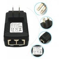 Adaptador de alimentação universal conversor de dispositivo de rede adaptador de alimentação eua/ue plug poe adaptador de parede injector ethernet
