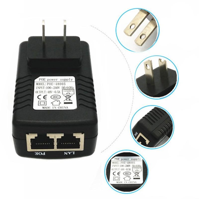 Universal Power Adapter Converter Network Device Supply Adapter US/EU POE Plug Wall Plug Injector Ethernet Adapter