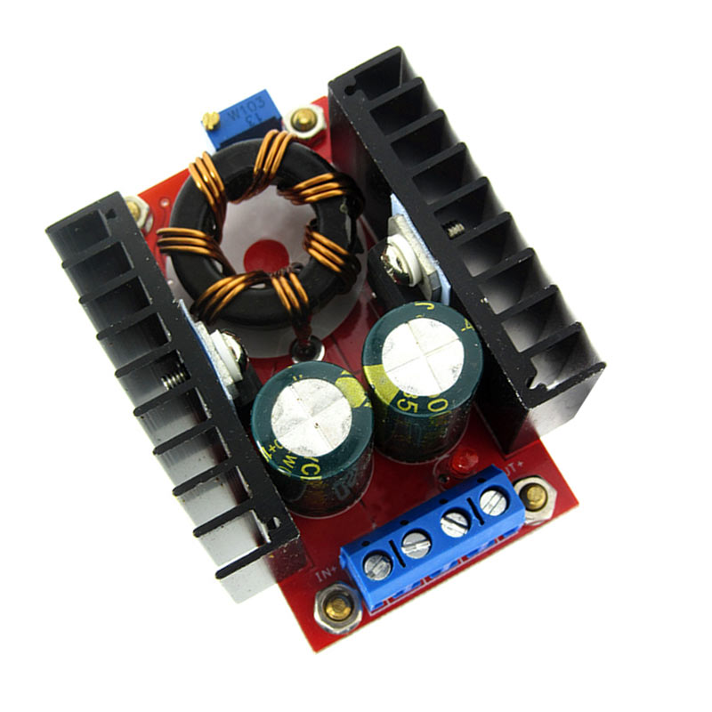 New 150W Boost Converter DC-DC 10-32V to 12-35V Adjustable Step Up Voltage Charger Module QJY99 1pcs 1500w 30a dc dc cc cv boost converter step up power supply charger adjustable dc dc booster adapter 10 60v to 12 90v module