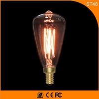 50Pcs Vintage Design Edison Filament E14 LED Bulb ,ST48 40W Energy Saving Decoration Lamp Replace Incandescent Light AC220V