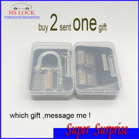 Super Surprise Buy 2 Pcs Transparent Lock Sent One Gift Locksmith Tools Pratice Lock Set Professional