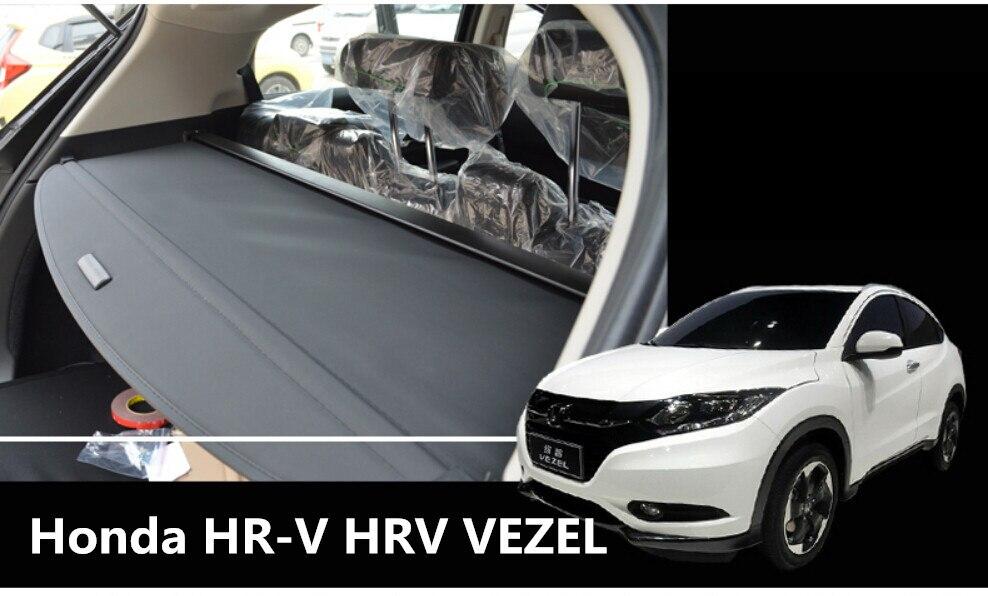 Car Rear Trunk Security Shield Cargo Cover For Honda HR V HRV VEZEL 2014 2015 2016